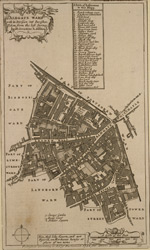 Aldgate ward with its division into parishes. Taken from the last survey, with corrections & additions (1754)